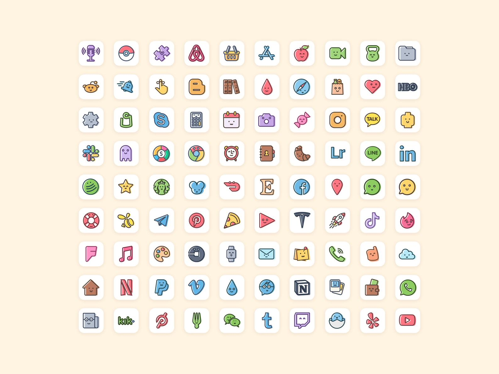 90 Cute Kawaii Ios14 App Covers Doodle Cartoon Aesthetic If you have been on the hunt for some awesome app icons that are better on aesthetics. cute kawaii ios14 app covers doodle